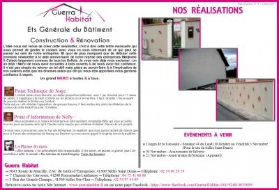 Newsletter Guerra Habitat - N°1 Octobre 2017